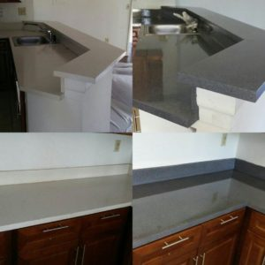Countertop refinishing service done in faux granite (stonewall gray) by America Refinishing Pros