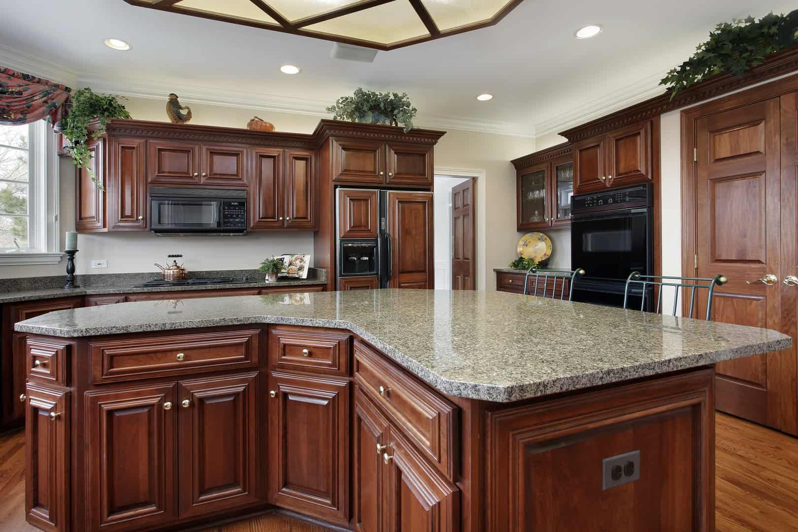countertop refinishing in big kitchen by America Refinishing Pros