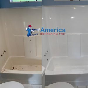 Can plastic, acrylic or fiberglass bathtubs or shower stalls be reglazed?