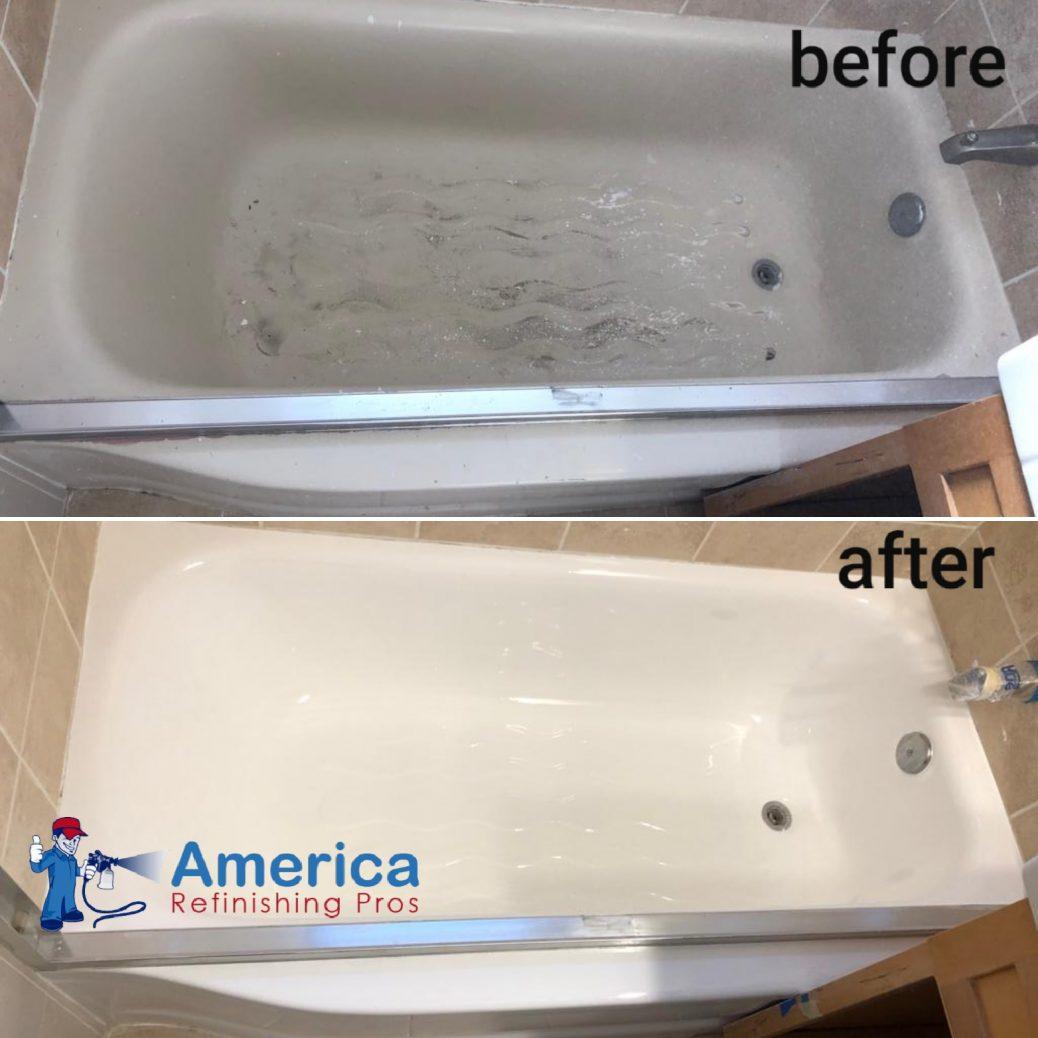 cast iron bathtub refinishing service by America Refinishing pros